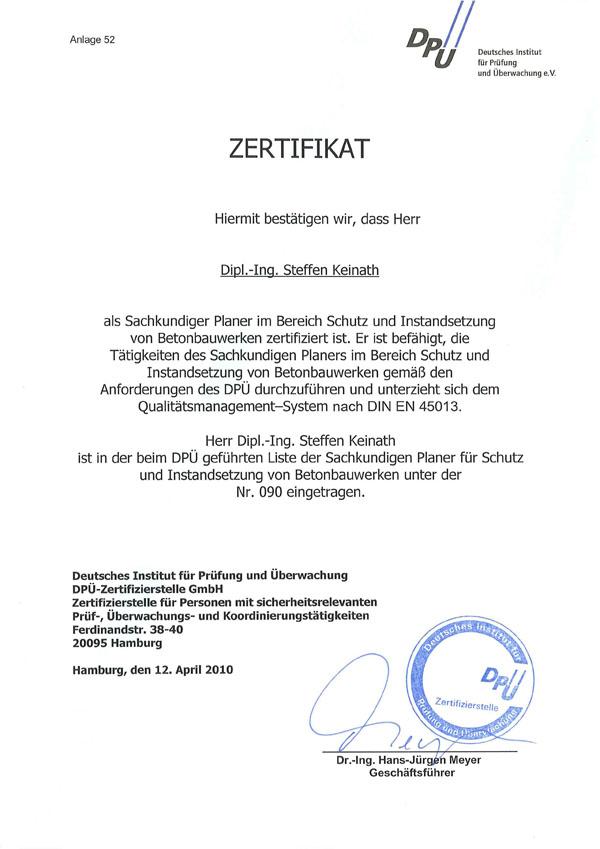 Zertifizierter Fachplaner für Betoninstandsetzung - SBS-Ingenieure